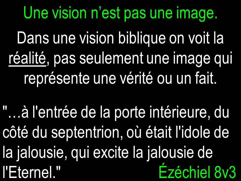 Une vision n'est pas une image.