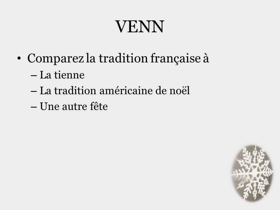 VENN Comparez la tradition française à La tienne
