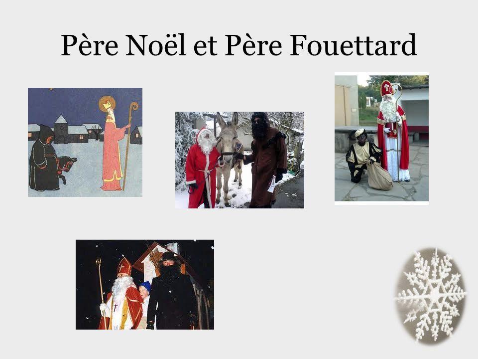 Père Noël et Père Fouettard