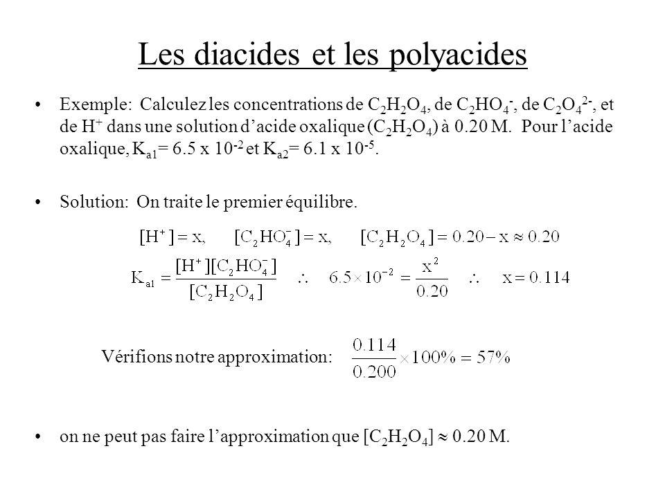 Les diacides et les polyacides