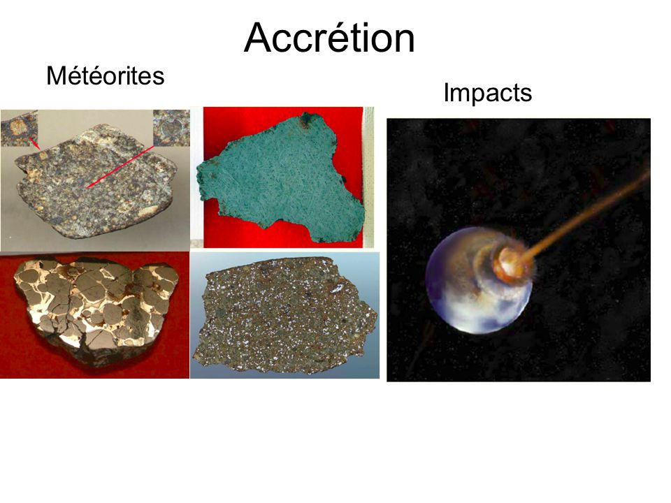Accrétion Météorites Impacts