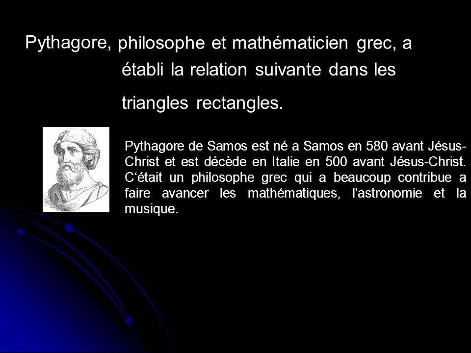 philosophe et mathématicien grec, a