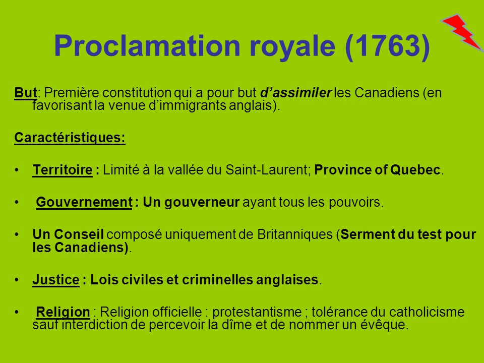 Proclamation royale (1763)