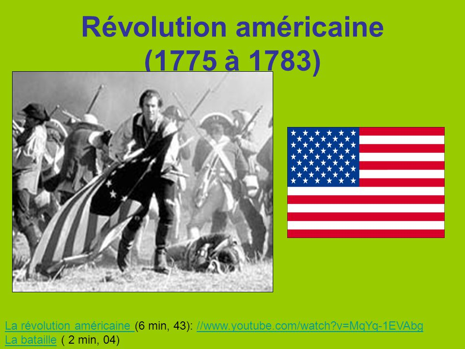 Révolution américaine (1775 à 1783)