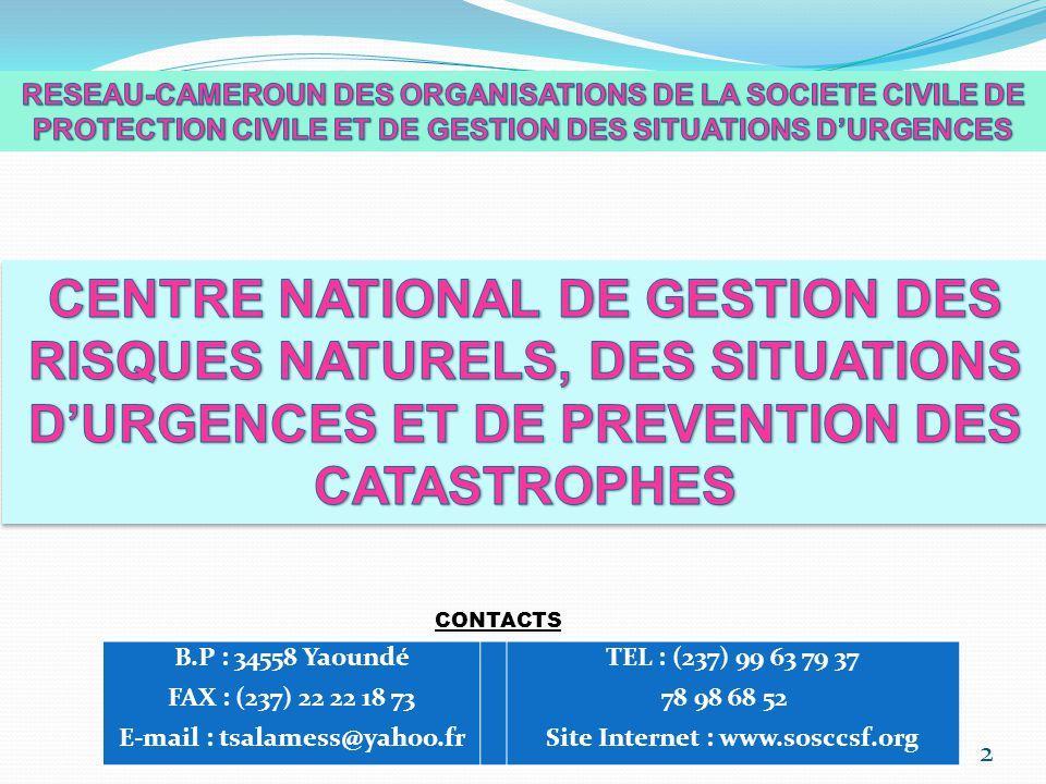 E-mail : tsalamess@yahoo.fr Site Internet : www.sosccsf.org