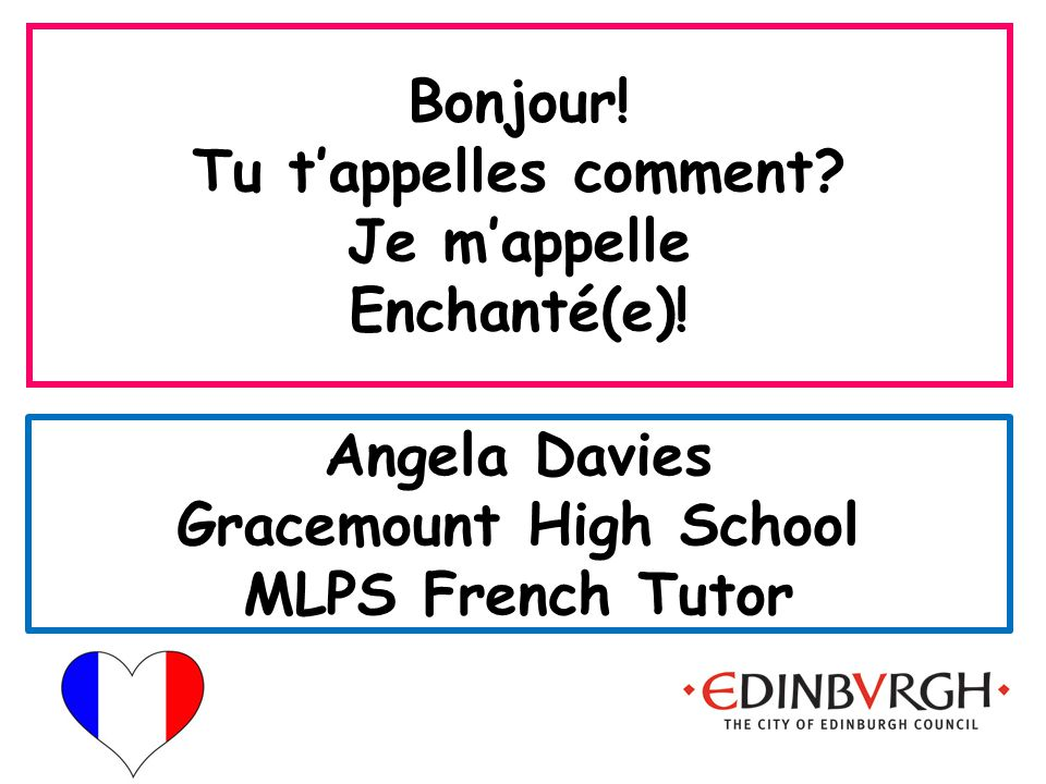 Angela Davies Gracemount High School MLPS French Tutor
