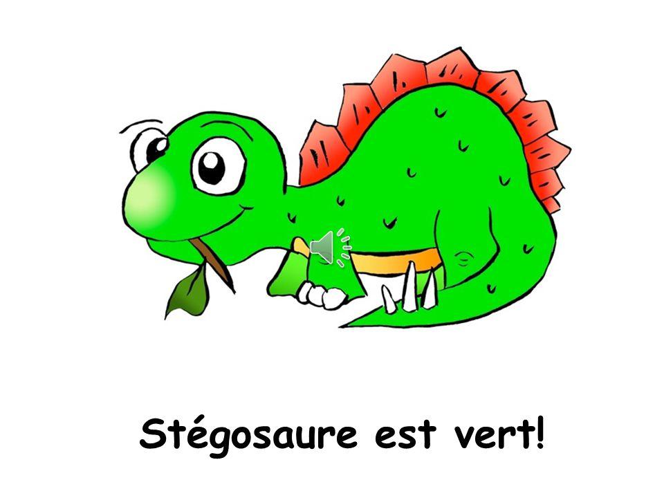 Stegosaurus is green Stégosaure est vert!