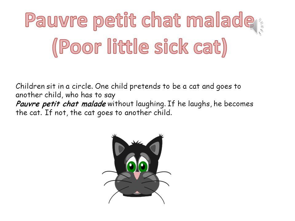 Pauvre petit chat malade