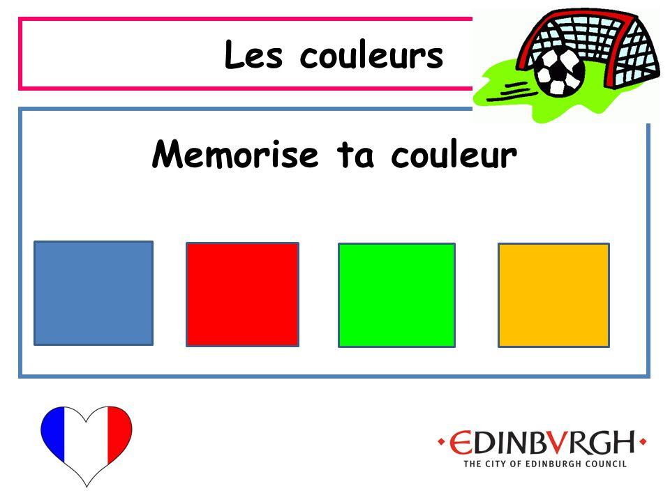 Les couleurs Memorise ta couleur