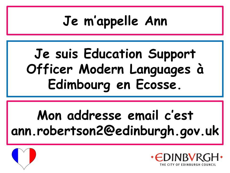 Mon addresse email c'est ann.robertson2@edinburgh.gov.uk