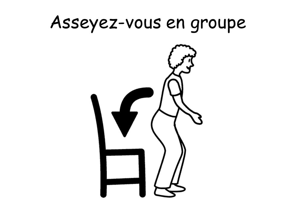 Asseyez-vous en groupe