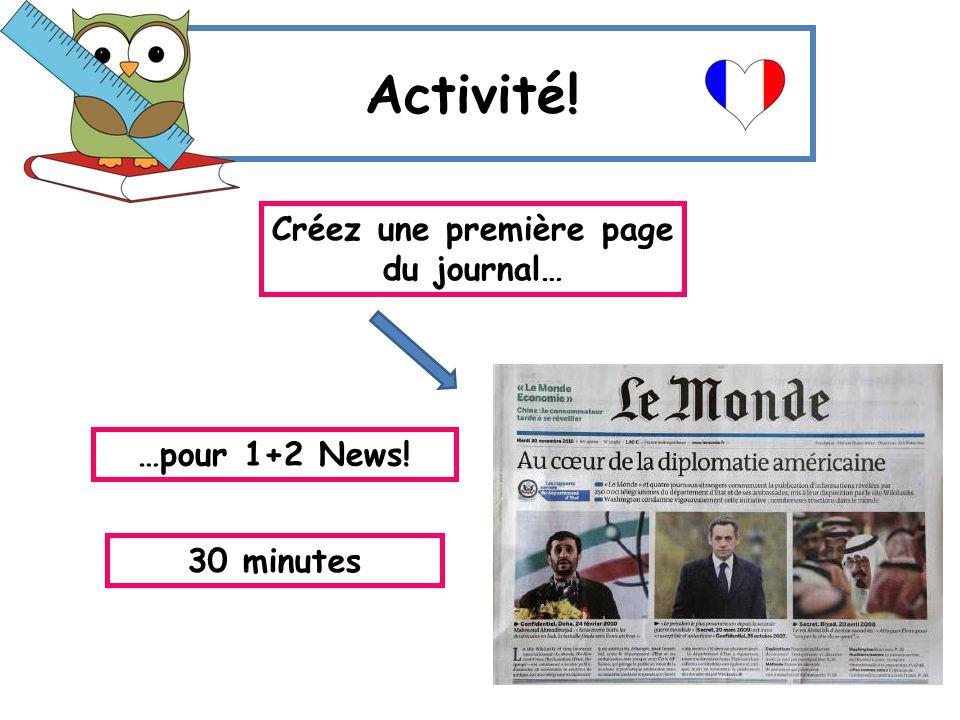 Créez une première page du journal…