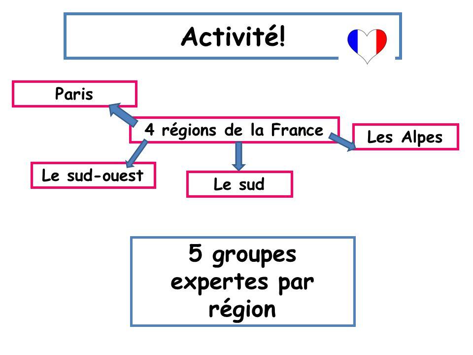 5 groupes expertes par région