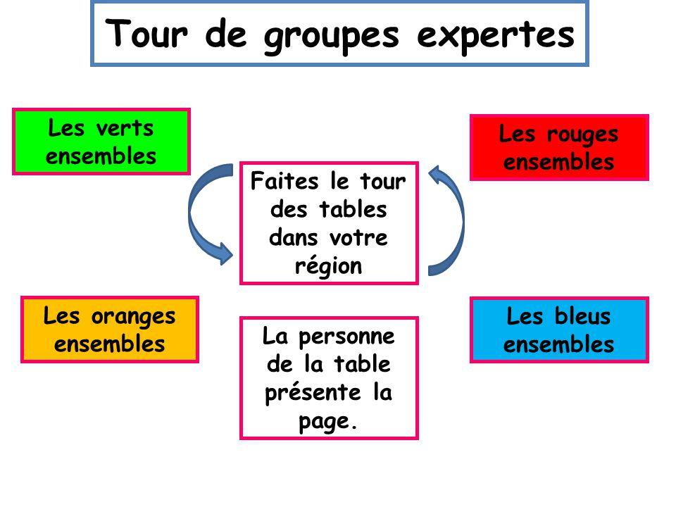 Tour de groupes expertes