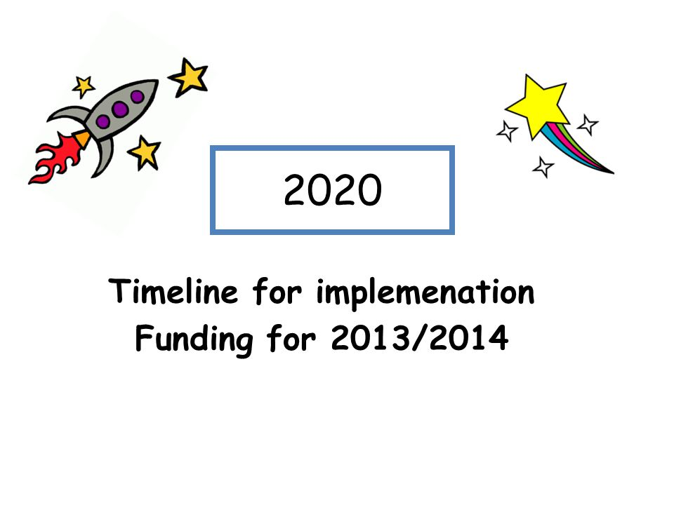 Timeline for implemenation Funding for 2013/2014