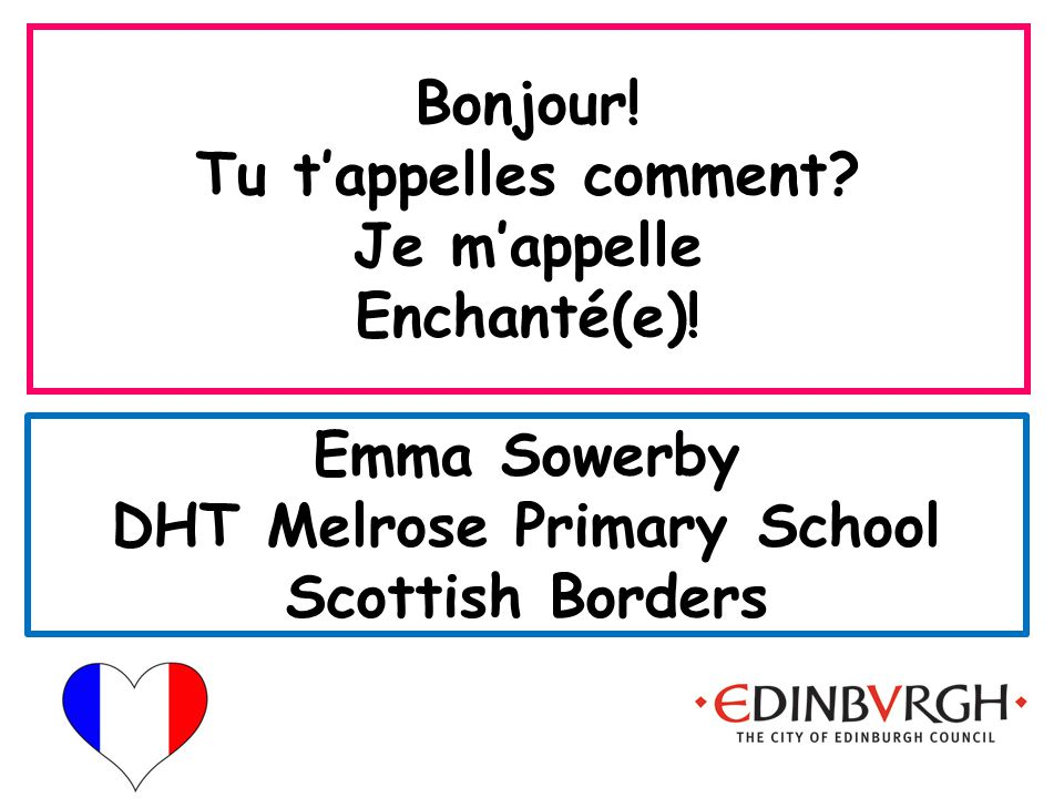 Emma Sowerby DHT Melrose Primary School Scottish Borders