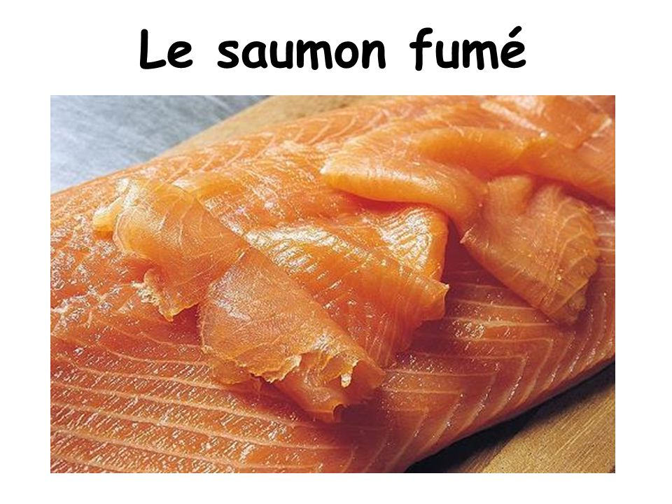 Le saumon fumé On Christmas eve, we eat a lot! With our family.