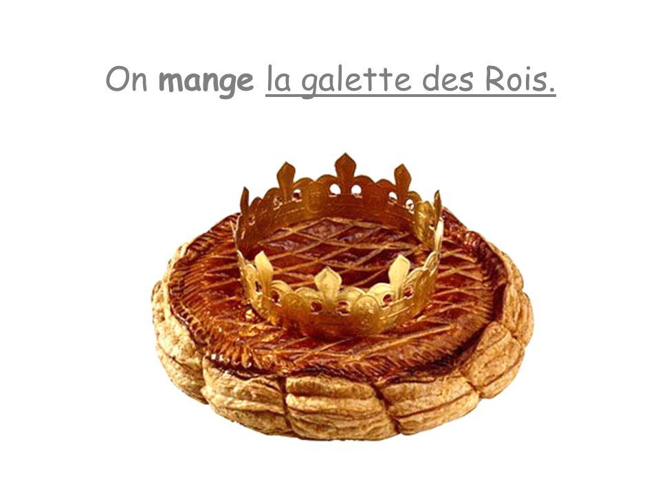 On mange la galette des Rois.