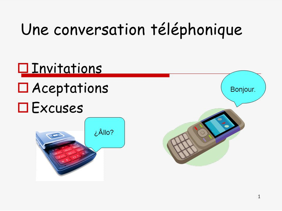 Une conversation téléphonique
