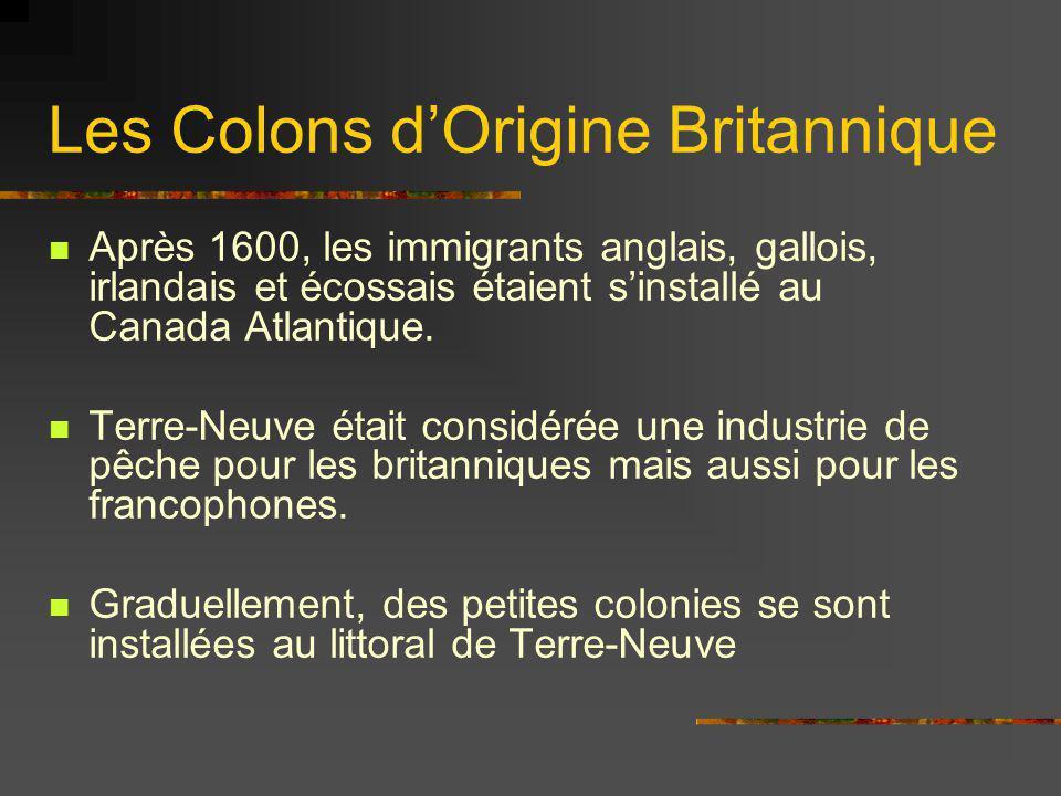 Les Colons d'Origine Britannique