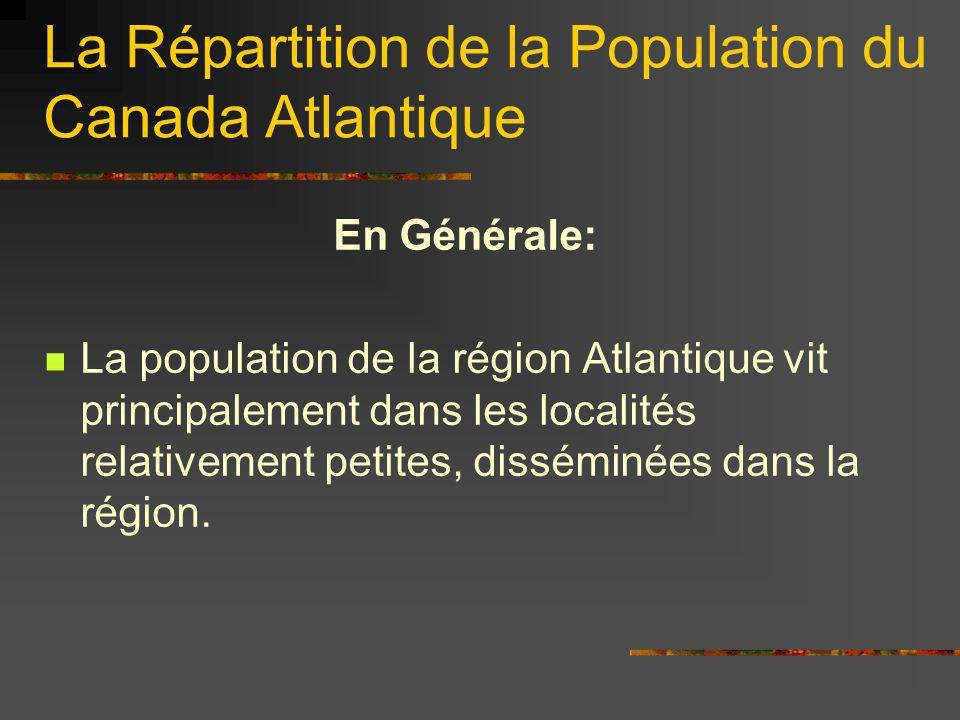 La Répartition de la Population du Canada Atlantique