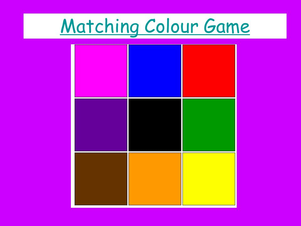 Matching Colour Game