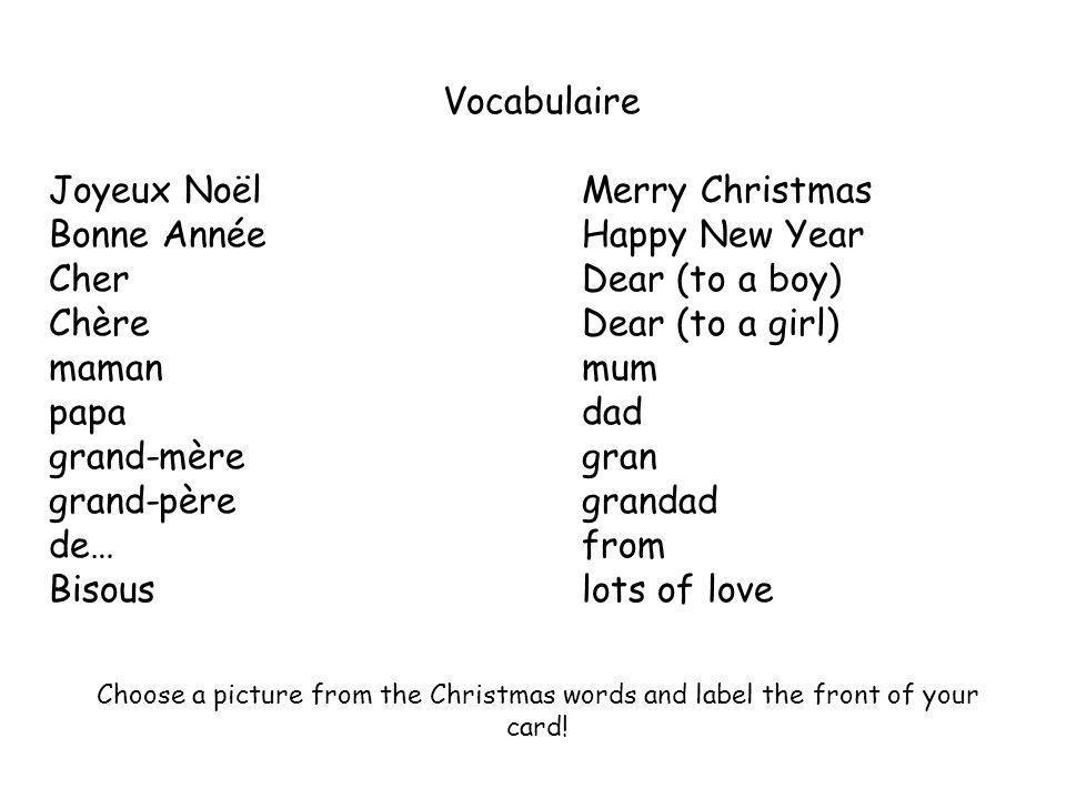Joyeux Noël Merry Christmas Bonne Année Happy New Year