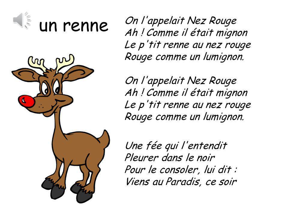 Aujourd hui c est mercredi six novembre ppt t l charger - Dessin de renne au nez rouge ...