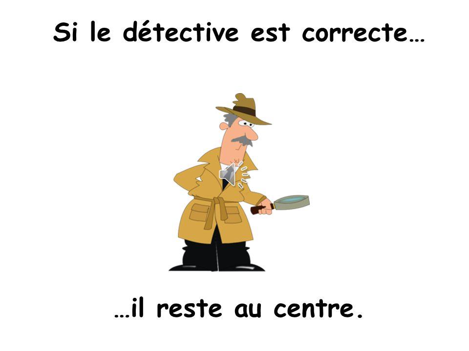 Si le détective est correcte…