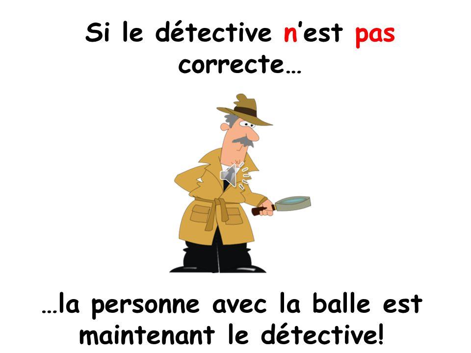Si le détective n'est pas correcte…