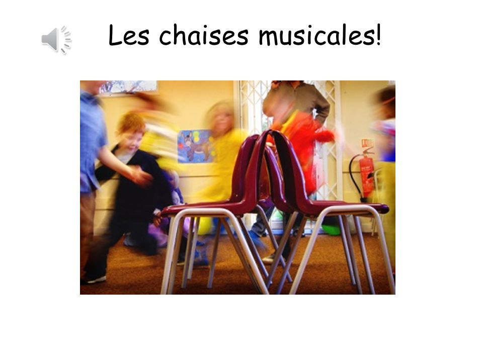 Les chaises musicales! Musical statues