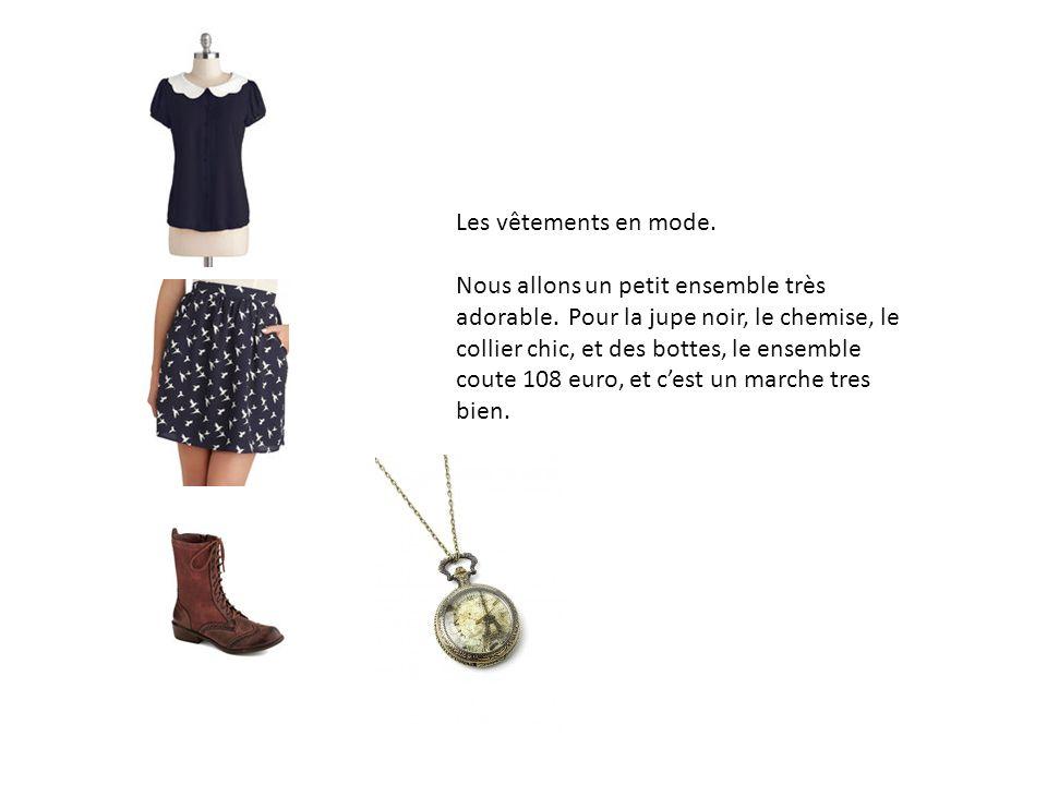 Les vêtements en mode.