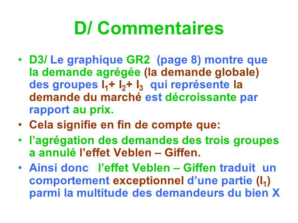 D/ Commentaires