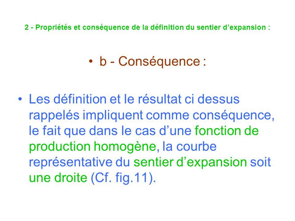 2 - Propriétés et conséquence de la définition du sentier d'expansion :