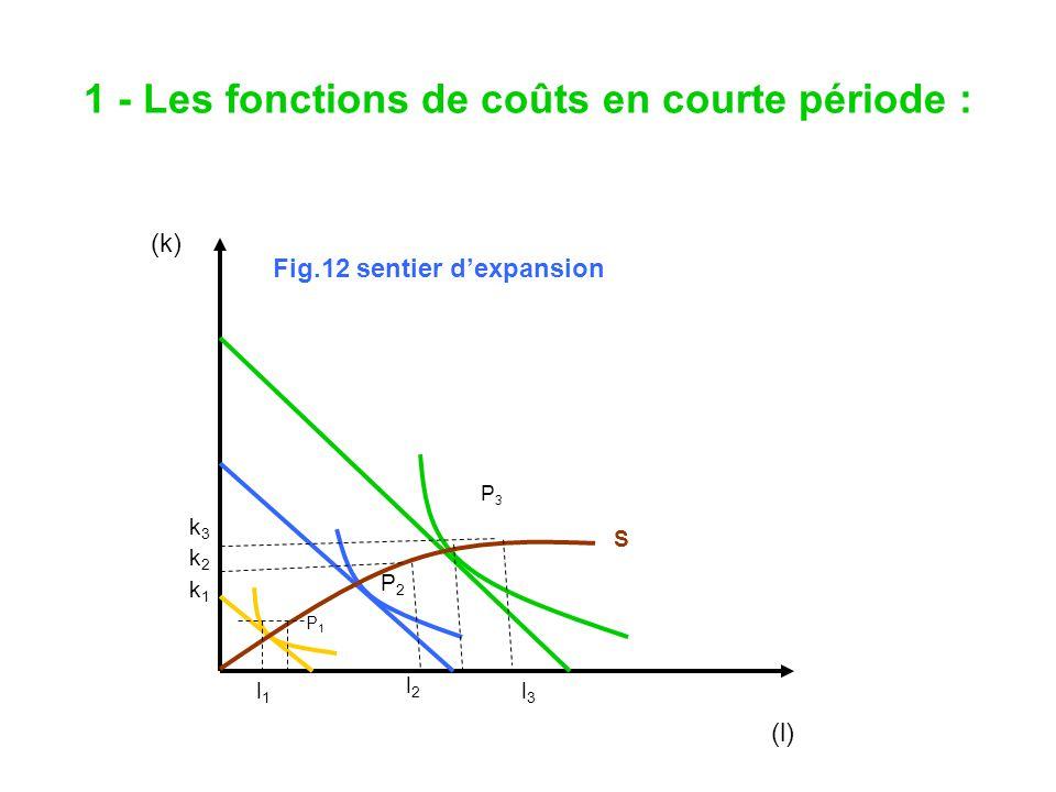 1 - Les fonctions de coûts en courte période :