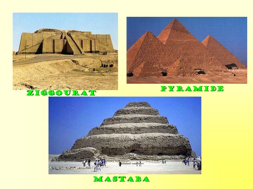 Pyramide Ziggourat Mastaba