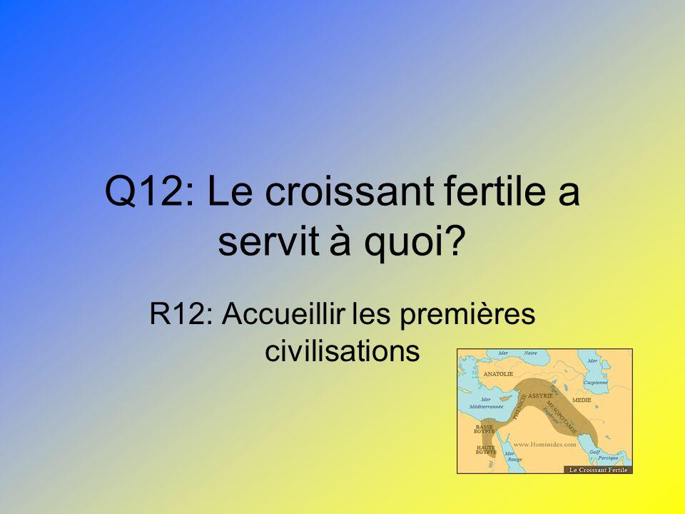 Q12: Le croissant fertile a servit à quoi