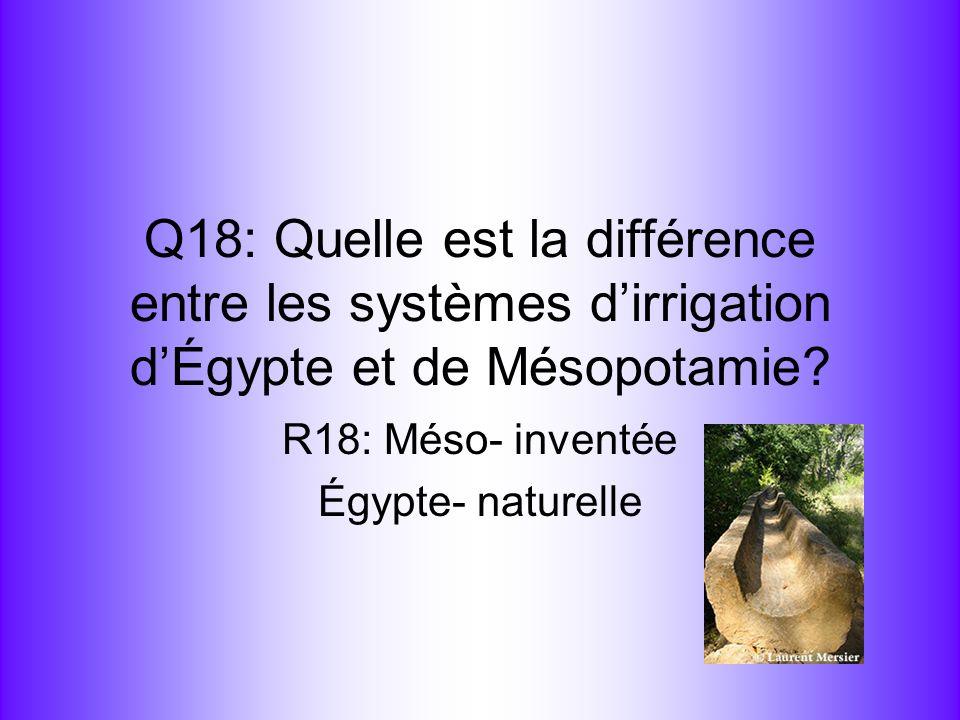 R18: Méso- inventée Égypte- naturelle