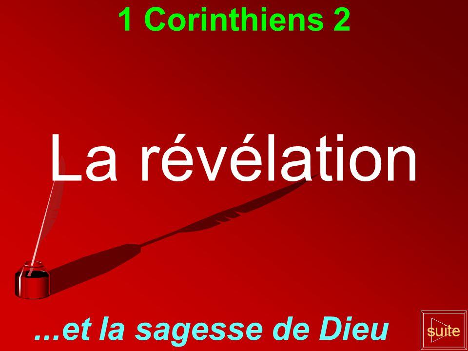 La révélation 1 Corinthiens 2 ...et la sagesse de Dieu