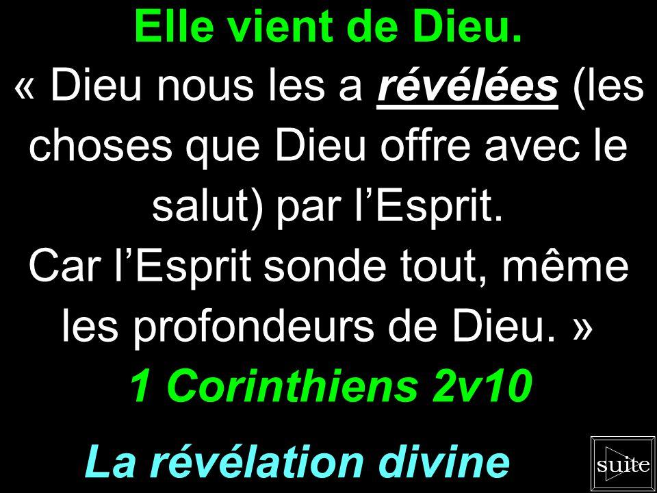 Car l'Esprit sonde tout, même les profondeurs de Dieu. »