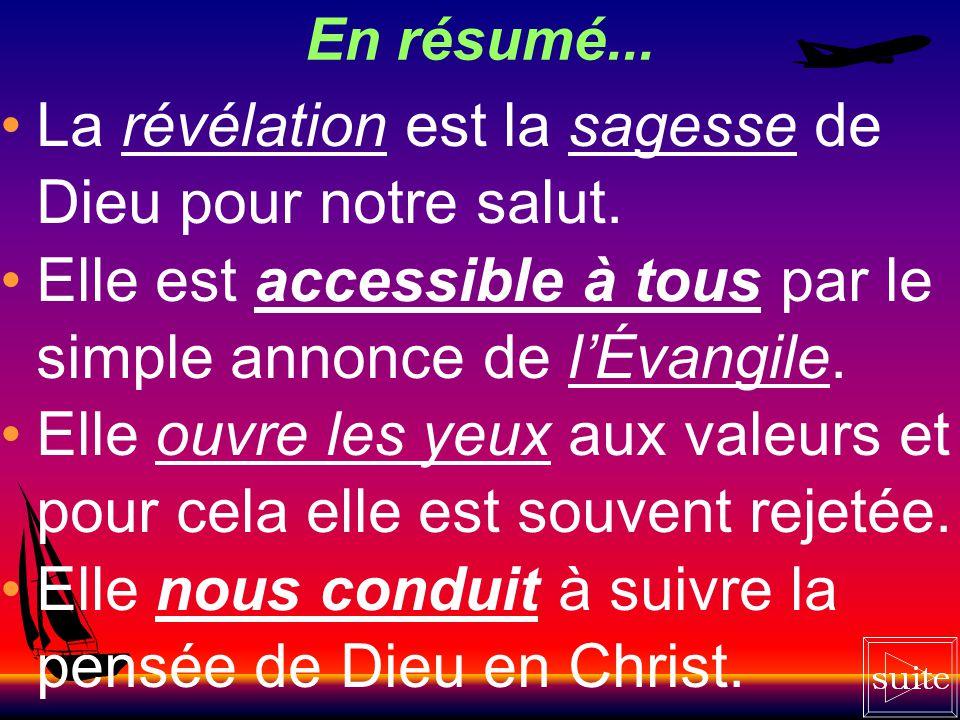 La révélation est la sagesse de Dieu pour notre salut.
