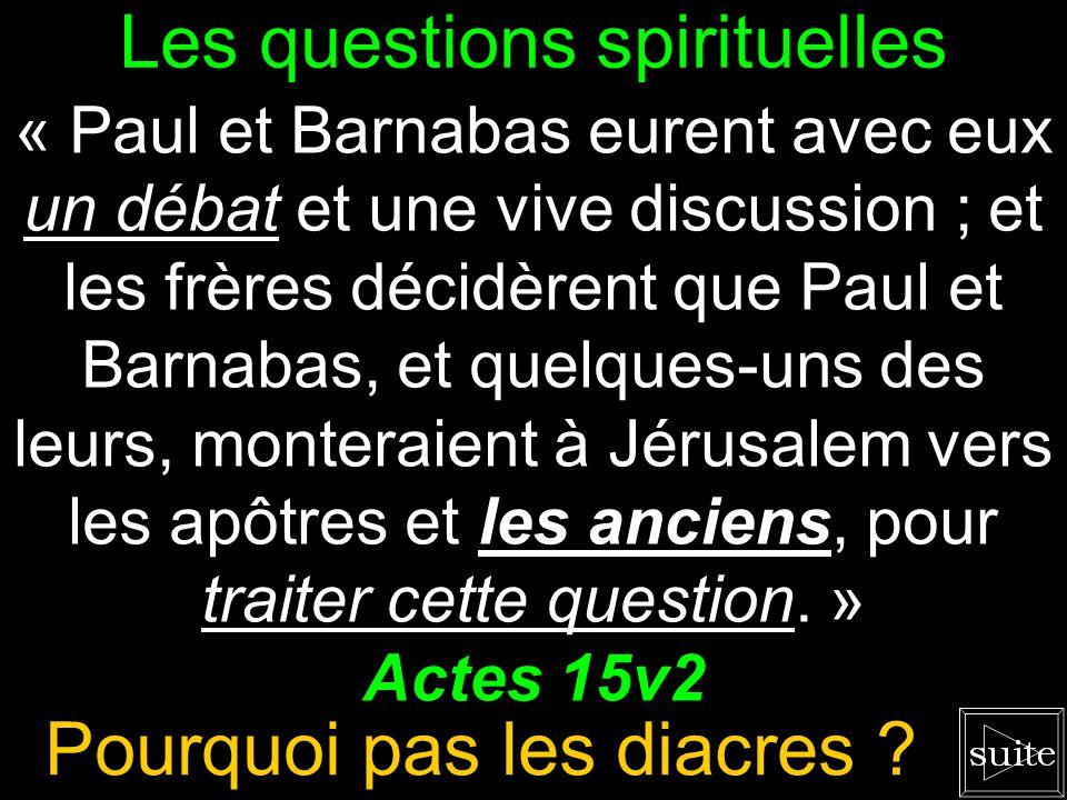 Les questions spirituelles