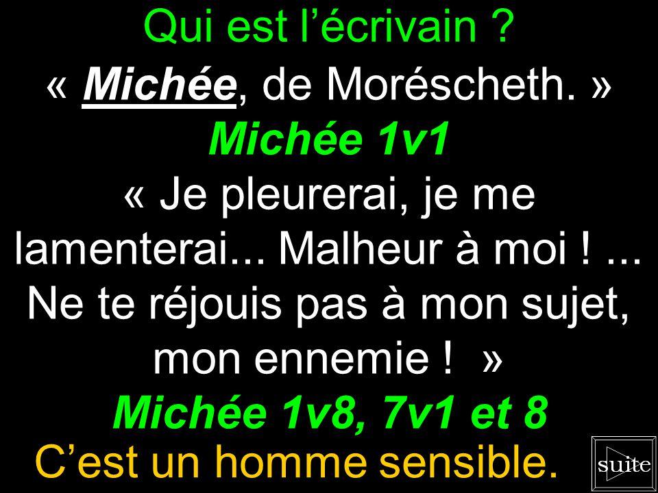 « Michée, de Moréscheth. » Michée 1v1