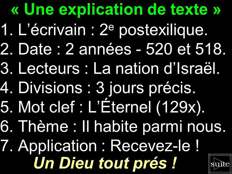 « Une explication de texte »