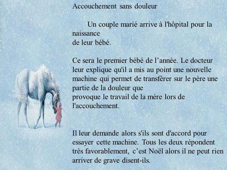 Accouchement sans douleur Un couple marié arrive à l hôpital pour la naissance de leur bébé.