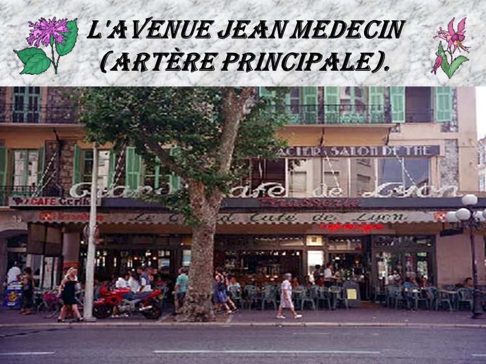 L avenue Jean Medecin (artère principale).