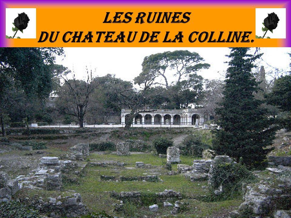 Les ruines du chateau de la colline.