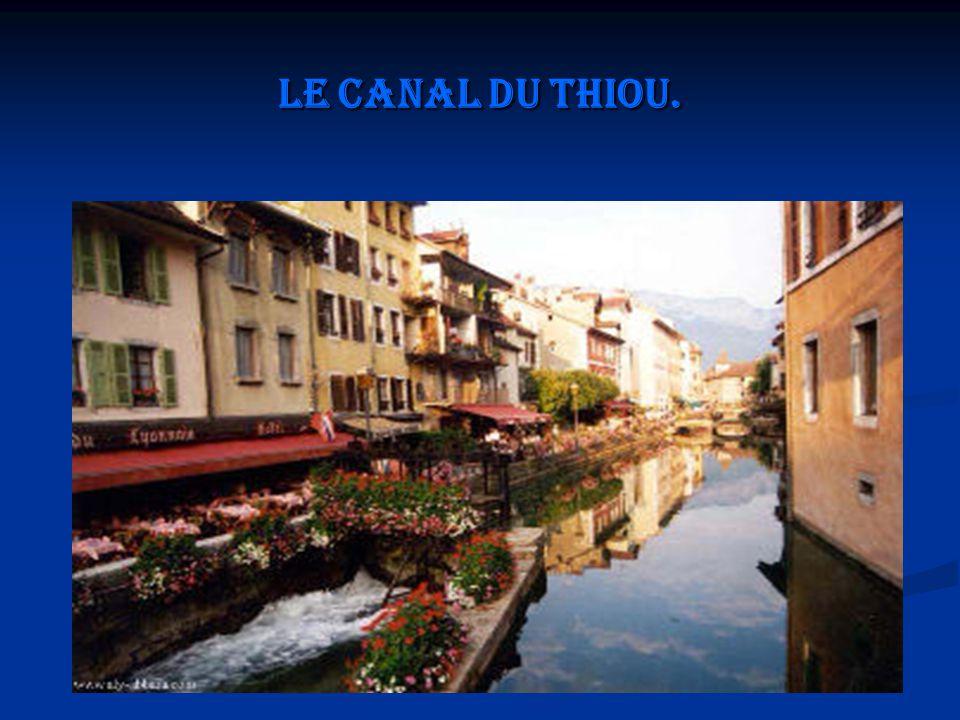 Le canal du Thiou.