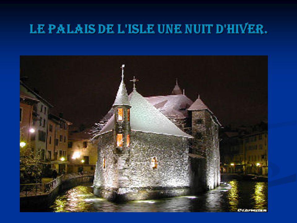Le palais de l isle une nuit d hiver.