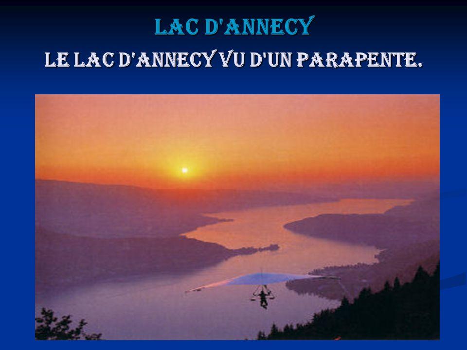 Lac d Annecy Le lac d Annecy vu d un parapente.